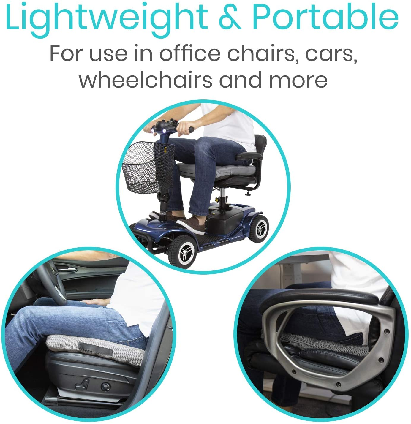 Coccyx Pain Office Chair Orthopedic Seating for Car Wheelchair Sciatica Soft or Firm Back Support Air Pad for Tailbone Portable and Inflatable Vive Pressure Relief Seat Cushion Travel
