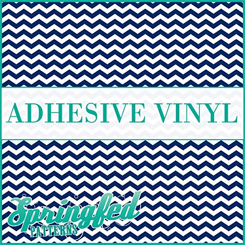 - CHEVRON STRIPES PATTERN #1 Navy Blue & White Craft Vinyl 3 sheets 12x12 Chevron for Vinyl Cutters
