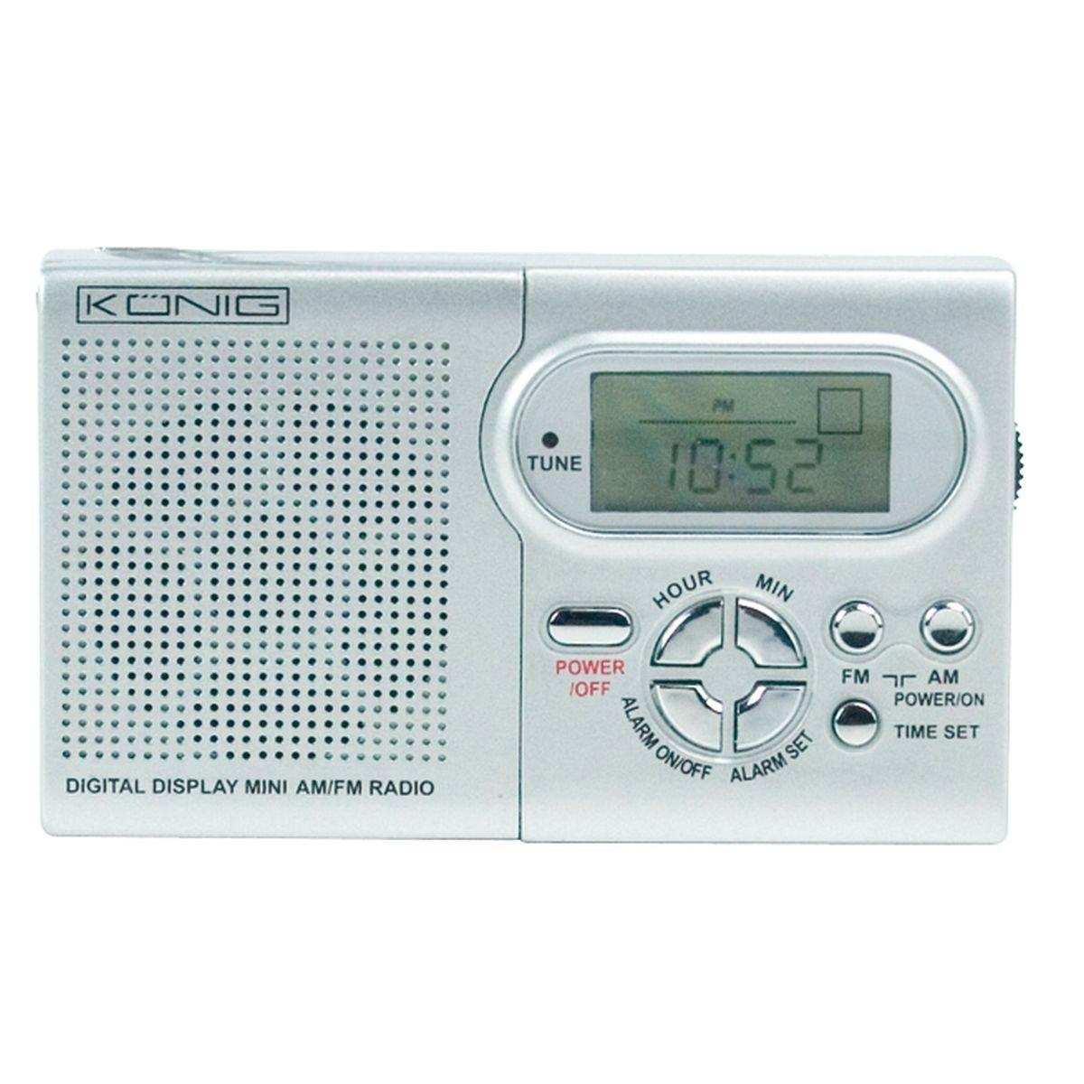 Konig 92x55x20mm AM FM Mini-Portable Radio with Digital Display ...