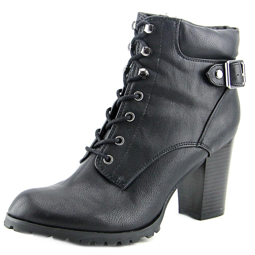 Style & Co. Womens Caitlin Leather Closed Toe Ankle Combat Boots Black 10 US