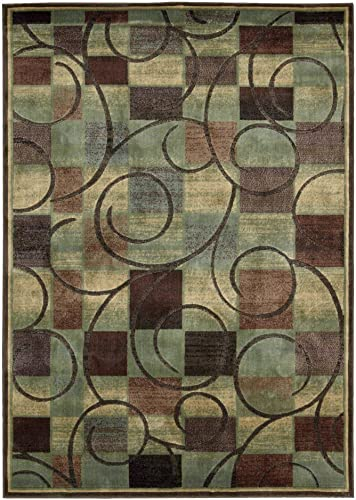 Nourison Expressions Area Rug Brown 9 6 x 13 6 Rectangle