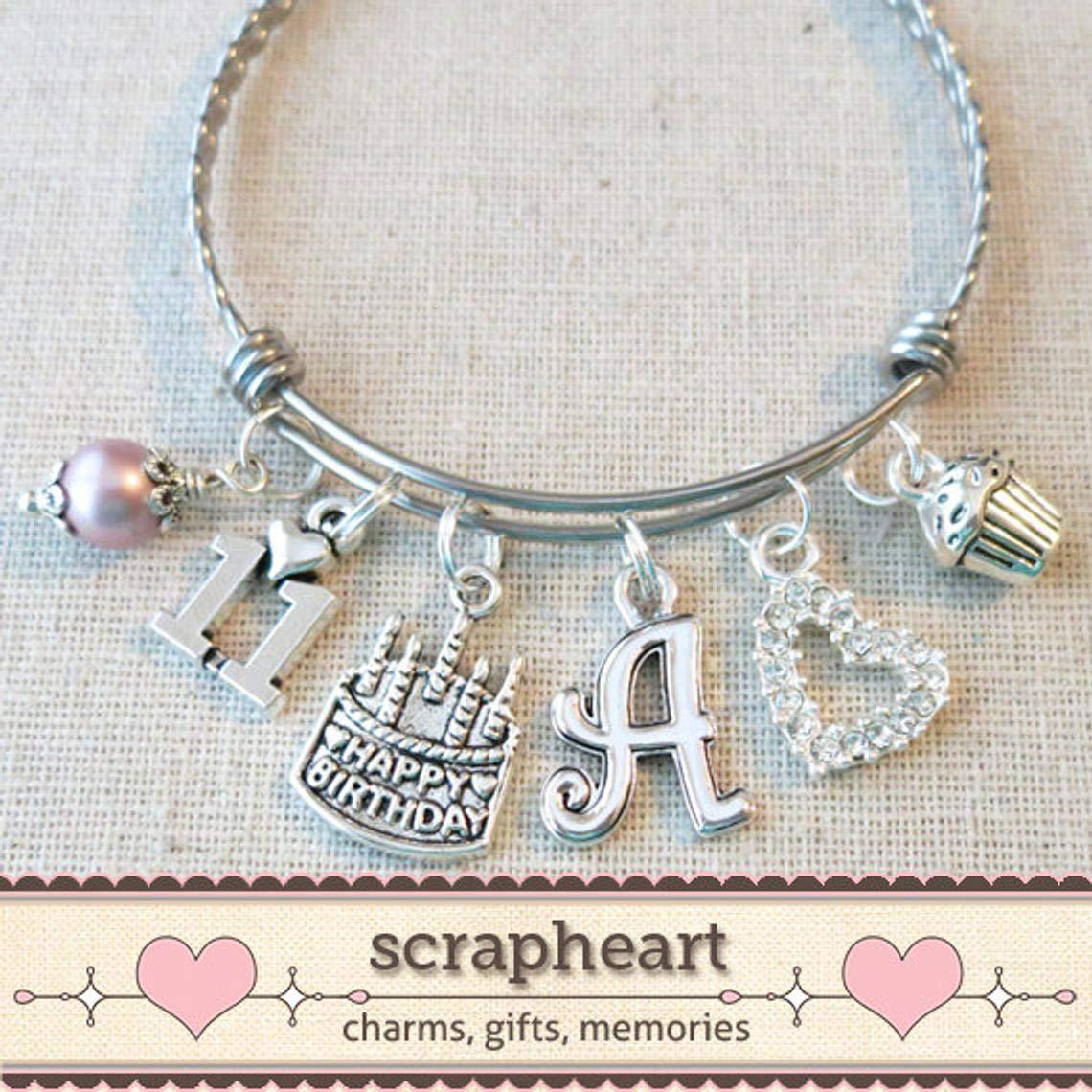 Amazon 11th BIRTHDAY GIRL Birthday Charm Bracelet