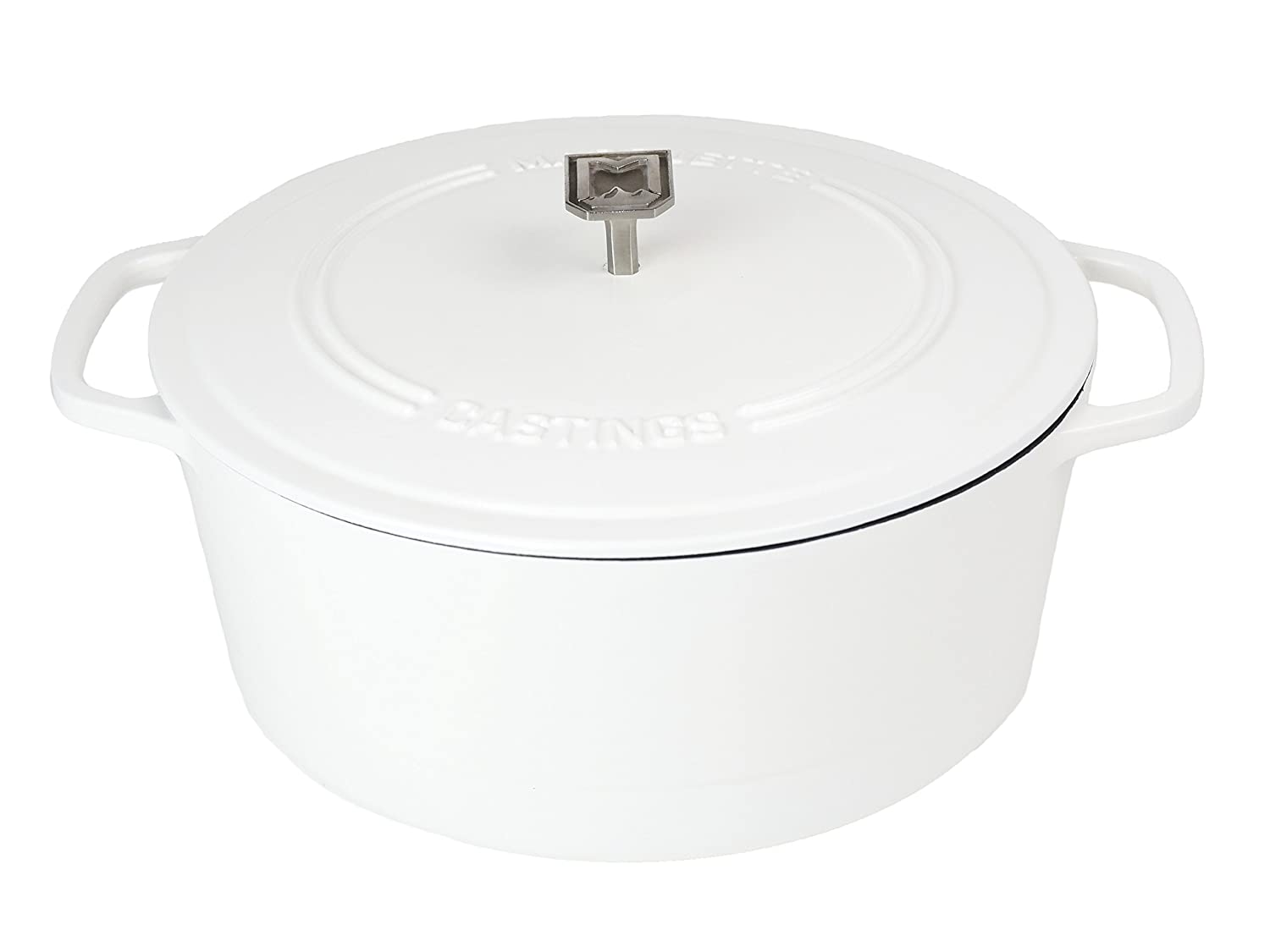 White Cast Iron Dutch Oven