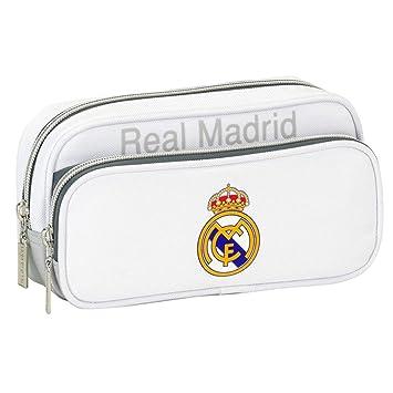 Real Madrid - Estuche de 2 bolsillos, WHITE/GREY: Amazon.es ...