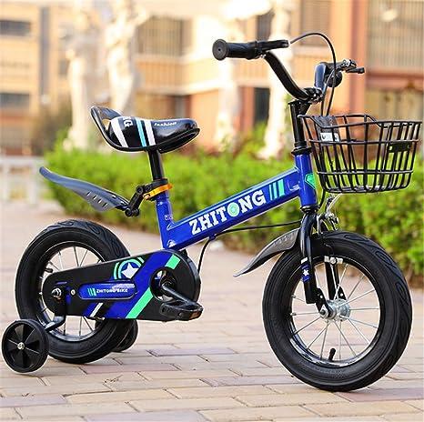 UNIQUE-F Bicicleta para niños de 18 Pulgadas, niño y niña con ...