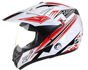 Casco protector con doble visera MX - Para motocross / todoterreno / enduro / MX /
