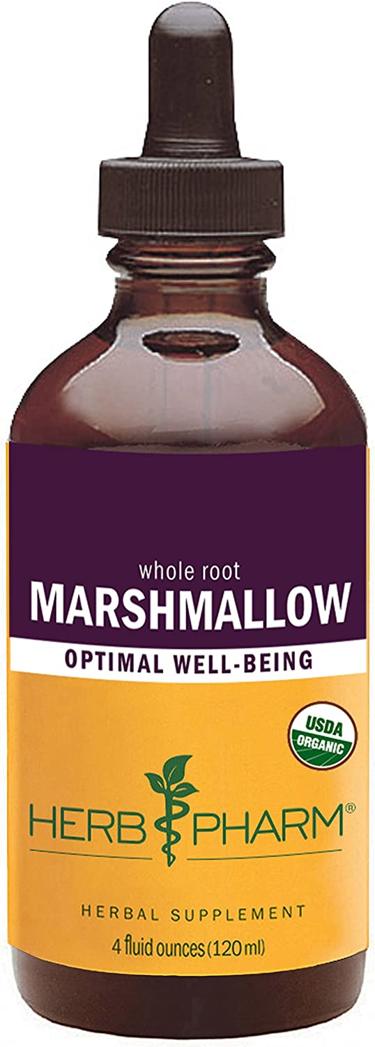 Herb Pharm Certified Organic Marshmallow Liquid Extract – 4 Ounce