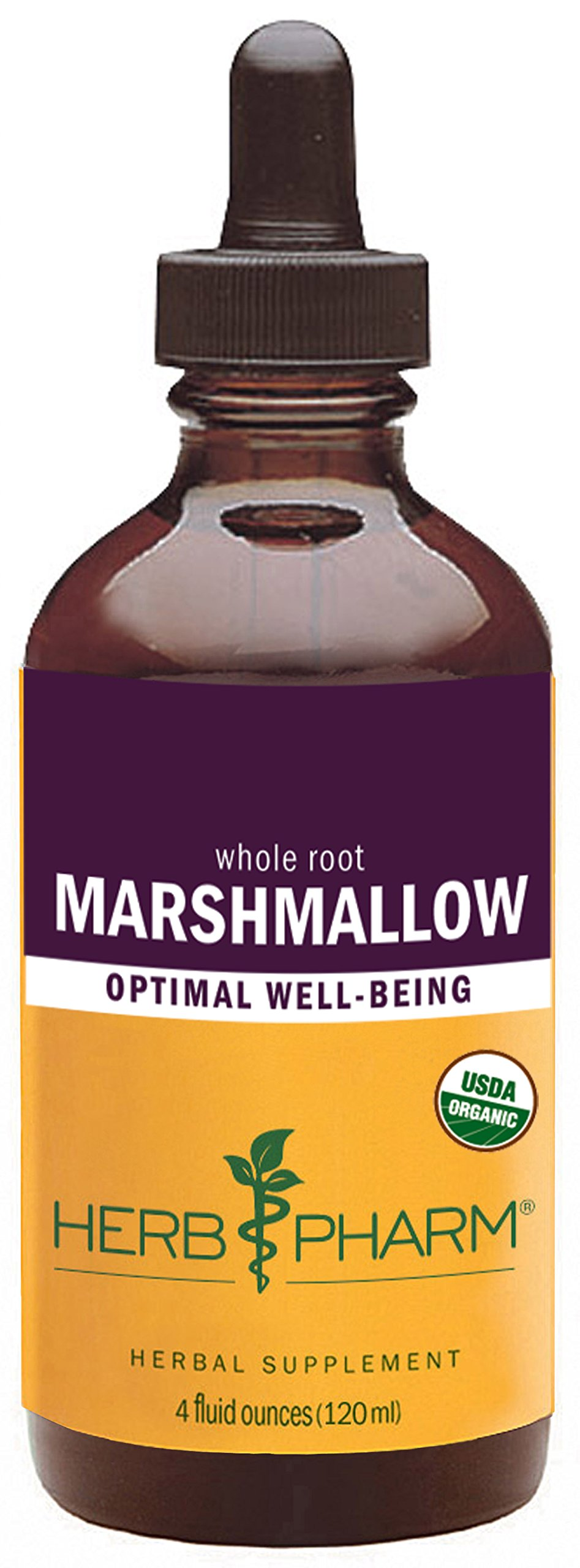 Herb Pharm Certified Organic Marshmallow Liquid Extract - 4 Ounce