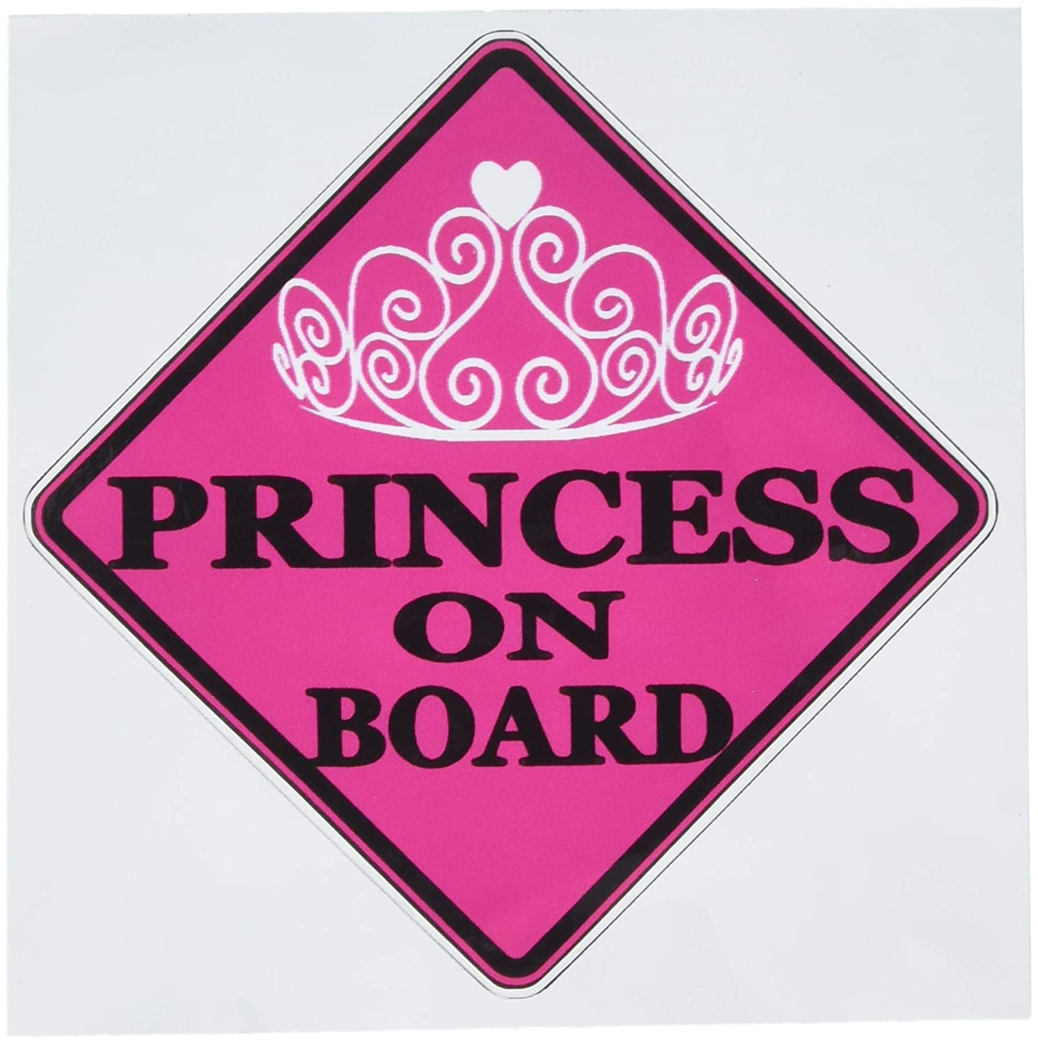 Rogue River Tactical Pink Princess On Board Sticker Car Window Decal Bumper for Girl Daughter Vehicle Safety Sticker Sign for Car Truck SUV 1 KDWVM1127