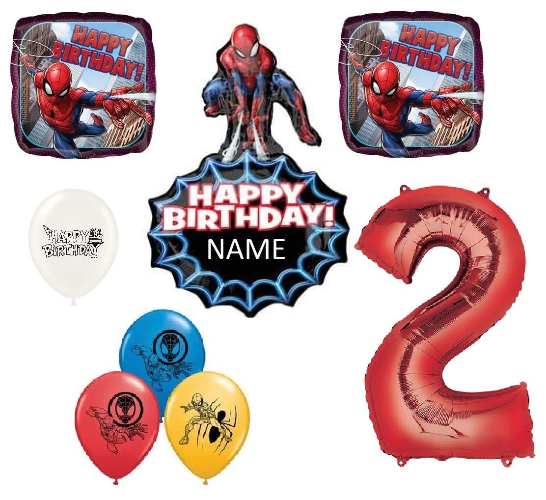 "Spider-Man Foil Mylar Balloon 18/"" Round Spiderman Birthday Party Decorations New"