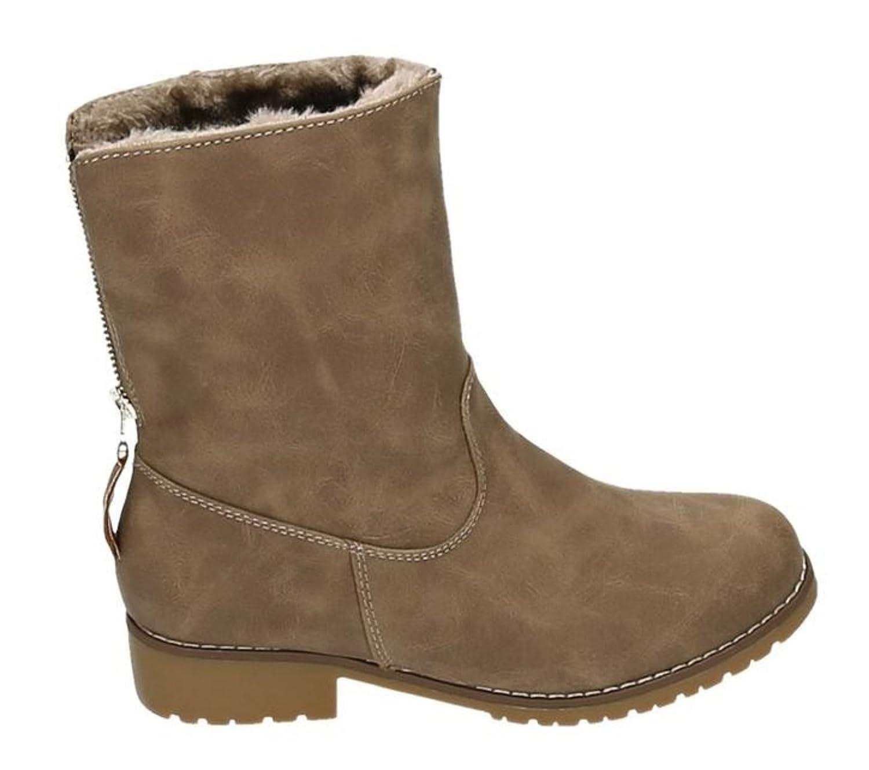 Gefüttert Stiefeletten King Warm Blockabsatz Boots Mit Of 8nONZX0wPk