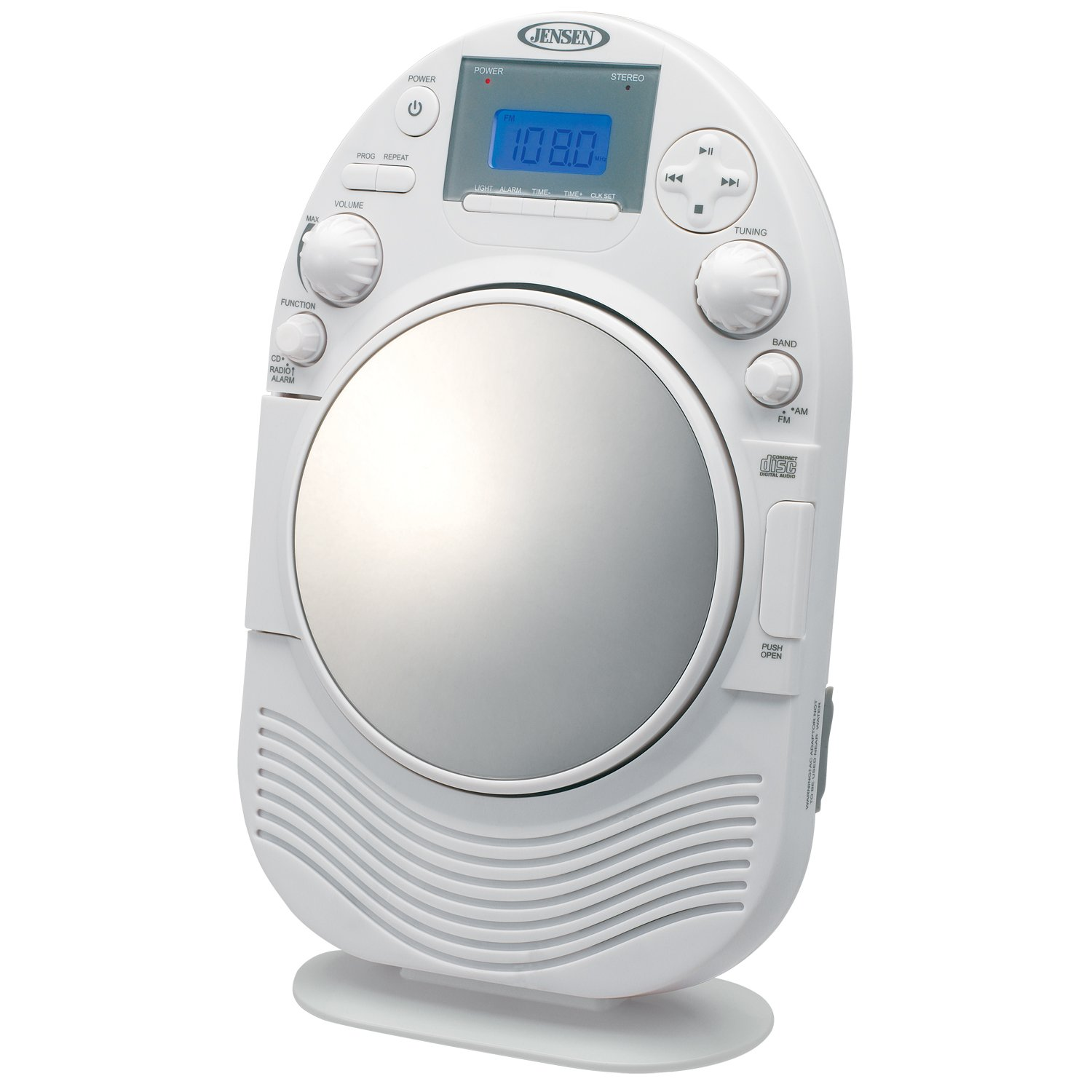 High Quality Amazon.com: Jensen JCR525 AM/FM Stereo Shower Radio With CD Slot: Home  Audio U0026 Theater
