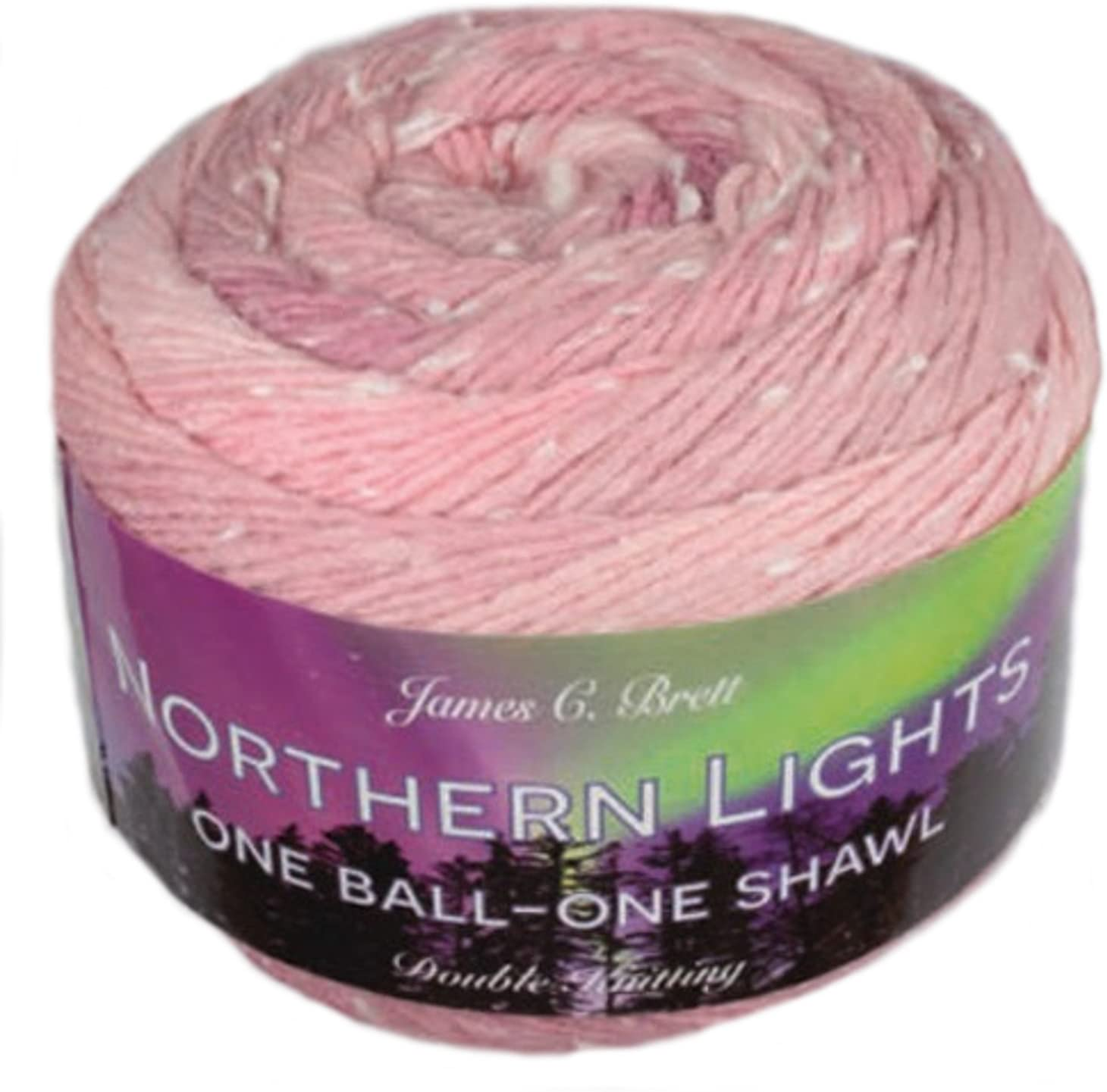 James C Brett Northern Lights Yarn Cake White Fleck 150g DK  Various colours