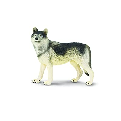 Safari Ltd. Wildlife Wonders – Wolf – Realistic Hand Painted Toy Figurine Model – Quality Construction from Safe and BPA Free Materials – for Ages 3 and Up – Large: Toys & Games