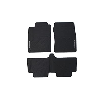 Genuine Toyota Accessories PT908-89090-20 Front and Rear All-Weather Floor Mat (Black), Set of 4: Automotive