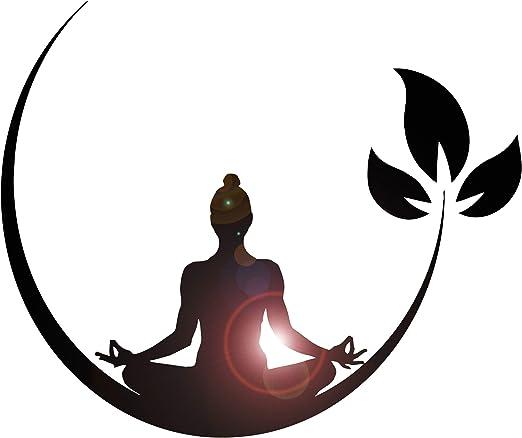Amazon Com Vinyl Wall Decal Yoga Meditation Room Buddhist Zen Stickers Ig4132 Black Home Kitchen