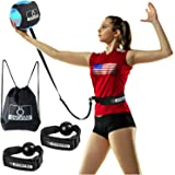 """OVANTO Volleyball Training Equipment Aid - Solo Volleyball Trainer Kit to Serve & Spike Like A Pro - Fits 20-46"""" Waists, Rein"""