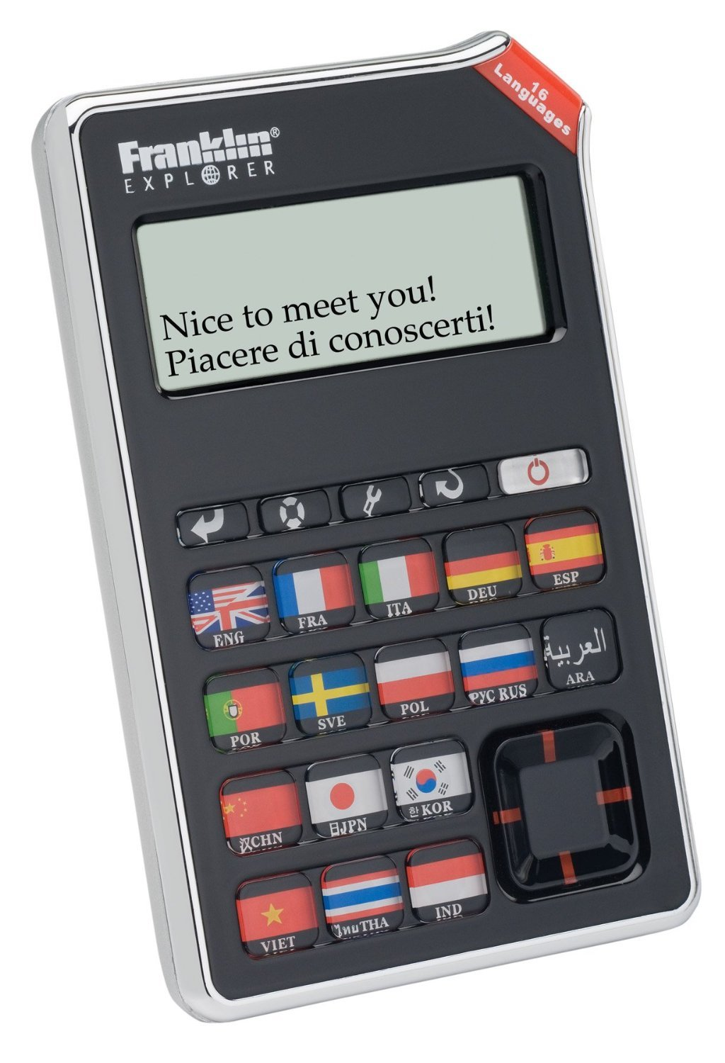 Franklin EST-4016 16-Language SPEAKING Global Phrasebook Translator With Recorded Human Voice