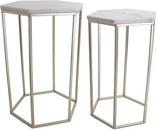 Hexagon End Table Set