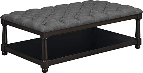 Picket House Furnishings Westfield Coffee Table Ottoman Charcoal