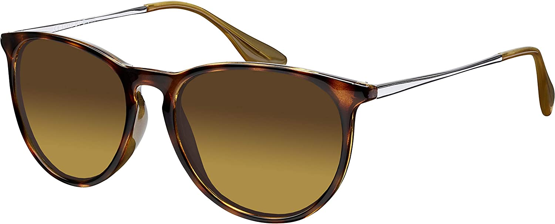 Sonnenbrille La Optica UV 400 Schutz Unisex Damen Herren Vintage Rund - Horn Leopardenmuster Glänzend (Gläser: Braun Verlaufstönung): Amazon.de: Bekleidung - Sonnenbrille Damen 2020