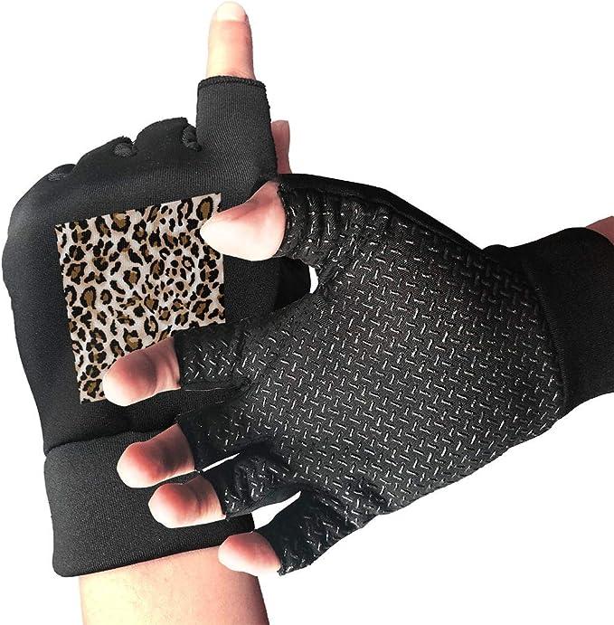 Kjiurh - Guantes Unisex sin Dedos con Estampado de Leopardo ...