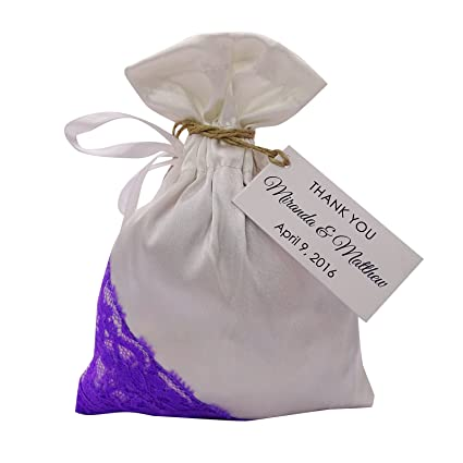 3c93839241ae Amazon.com  20 Satin and Net Drawstring Gift Pouch Small Favor Bags ...