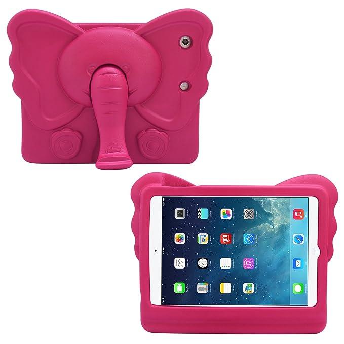 DMG Kids Case for iPad Mini/Mini 2/iPad Mini 3, Light Weight Shock Proof Handle Stand Child Safe Cover for Apple iPad Mini  Magenta  Mobile Cases   Co