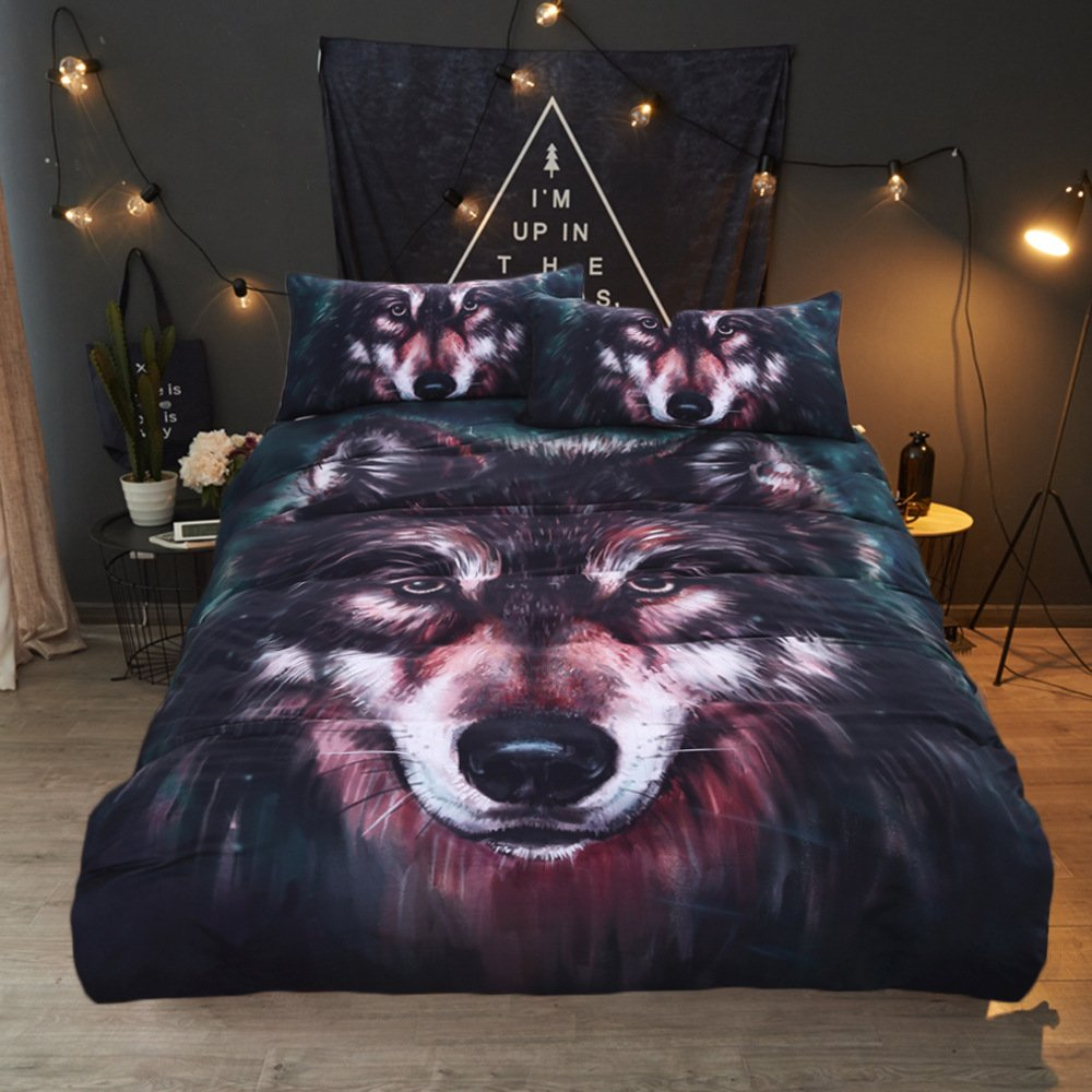 LHJY Bedding Three Pieces Of 3D Oil Painting And Printing In Europe And America Full 203Cmx228Cm