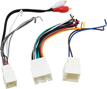 RED WOLF Car Aftermarket Stereo Radio Install AMP/Amplifier Wiring Harness with RCA Connector Premium Sound System for Ford 1998-2005, Lincoln/Mercury 1998-2003