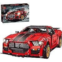 Technic Sportwagen Model voor Ford Mustang Shelby GT500, 3386 Onderdelen Supercar Bouwstenen Auto Racing Car Model Kit…