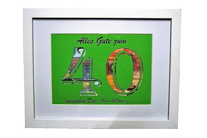 Geldgeschenk Zum 40 Geburtstag Farbe Wahlbar Amazon De Handmade