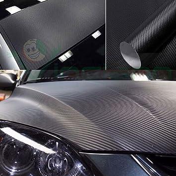 Rollo de vinilo de fibra de carbono 4D, adhesivo para ...