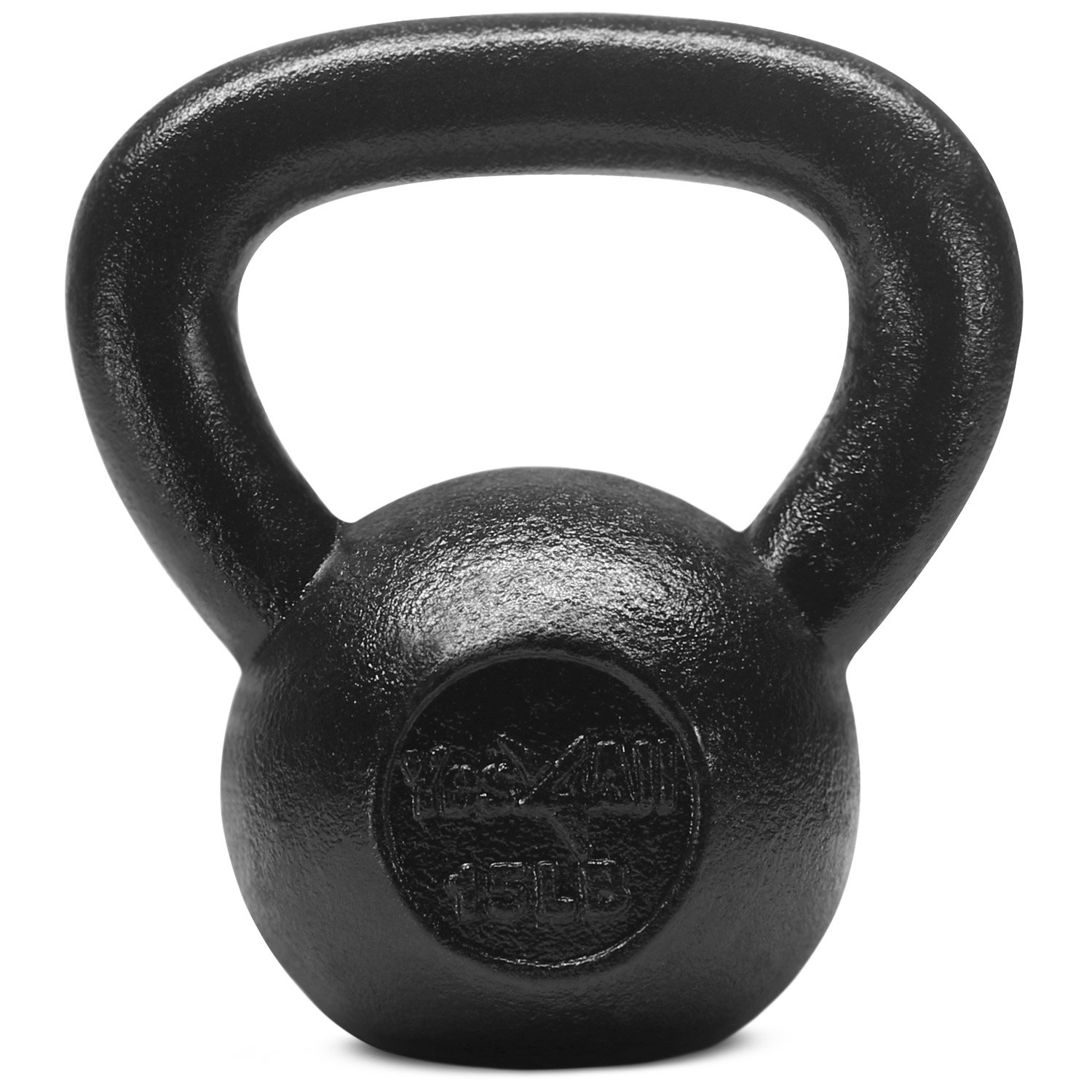 Yes4All  Combo Cast Iron Kettlebell Weight Sets – Great for Full Body Workout and Strength Training – Kettlebells 5 10 15 lbs (Black) by Yes4All (Image #4)