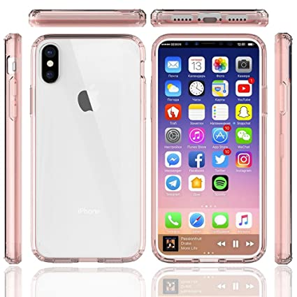 best website ac280 7c1f7 ODM iPhone X case holder Shock-Absorption Soft TPU Bumper and Anti-Scratch  Ultra Clear Slim Case for Apple iPhone X (Crystal Pink)