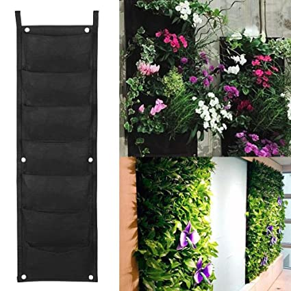 Yaheetech 7 Pocket Vertical Garden Planter U2013 Living Wall Hanging Planter U2013  Vertical Growing Bags U2013