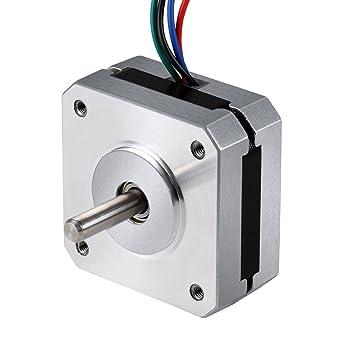 TopDirect Nema 17 Motor paso a paso 1A 13Ncm(18.4 oz.in) con 4-Pin ...