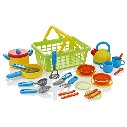 KiddyPlay Cook & Serve Cesta de la Cocina Playset