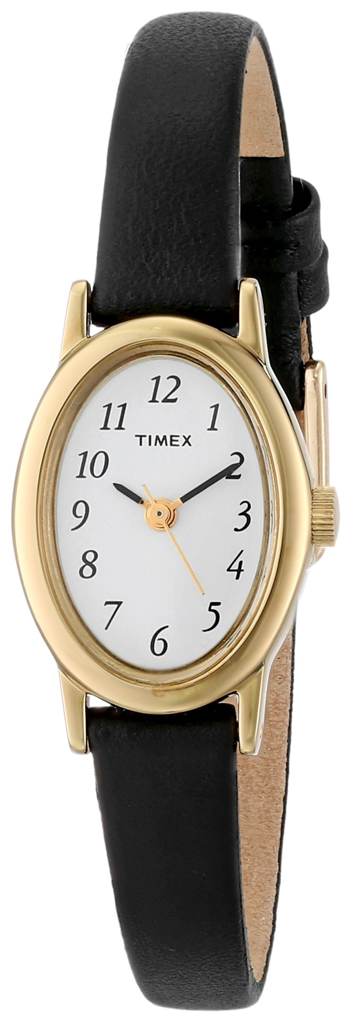 Timex Women's T21912 Cavatina Black Leather Strap Watch by Timex