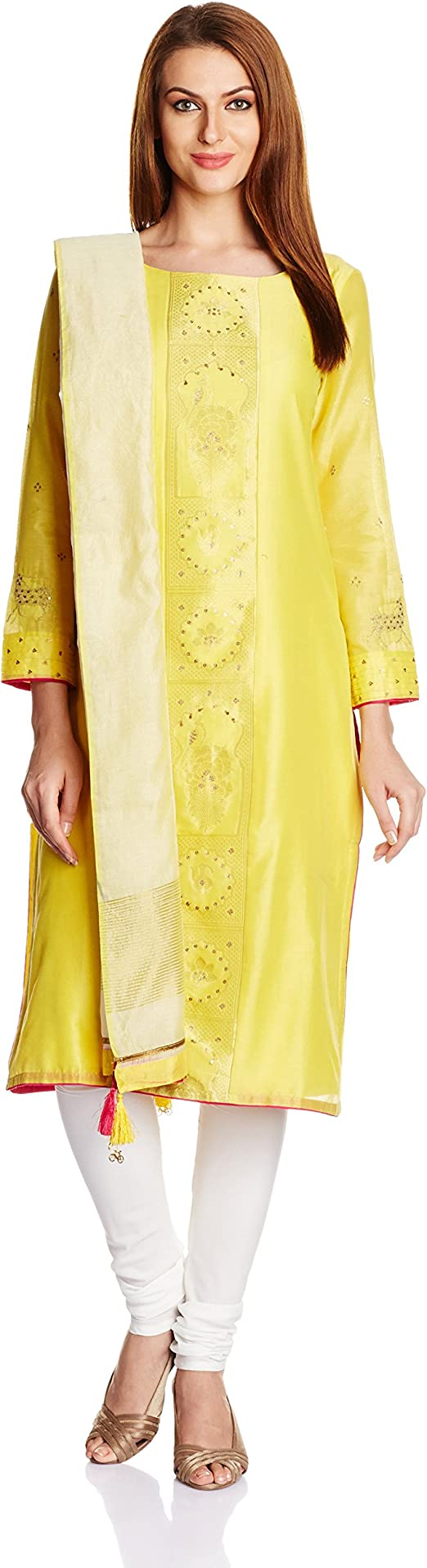 Wishful By W Straight Salwar Suit Women's Salwar Suits at amazon