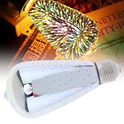 SZYOUMY 3D Firework LED Filament Star Light Bulb ST64 E27 Glass Decoration Edison Bulb Starry Ball