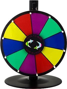 Happybuy mesa color premio rueda con plegable trípode soporte de suelo ranuras Colorful Feria de borrado en seco fortuna Spinning premio rueda para Spin Juego Carnaval: Amazon.es: Deportes y aire libre