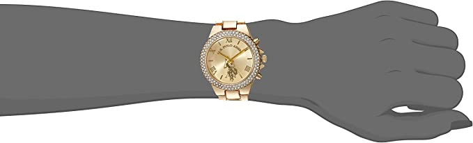 Women's Gold-Tone Analog-Quartz Watch with Alloy Strap