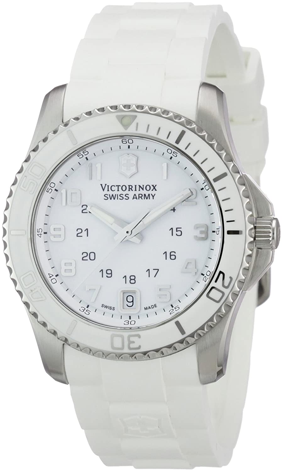 Amazon.com: Victorinox Swiss Army Womens 241492 Maverick white Dial Watch: Watches