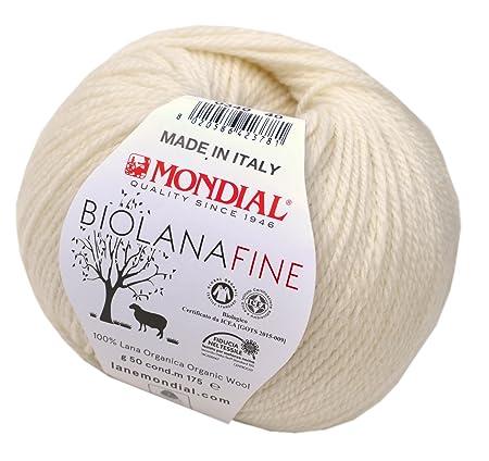 Lane Mondial 50 Gramm Bio Wolle Ende Col 340 Natürlichen