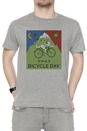 Erido Bicycle Day T-Shirt - 1943 Vintage (Albert Hofmann LSD) Herren  T-Shirt Rundhals Grau Kurzarm Alle Größen Men s Grey  Amazon.de  Bekleidung cdc089ba11