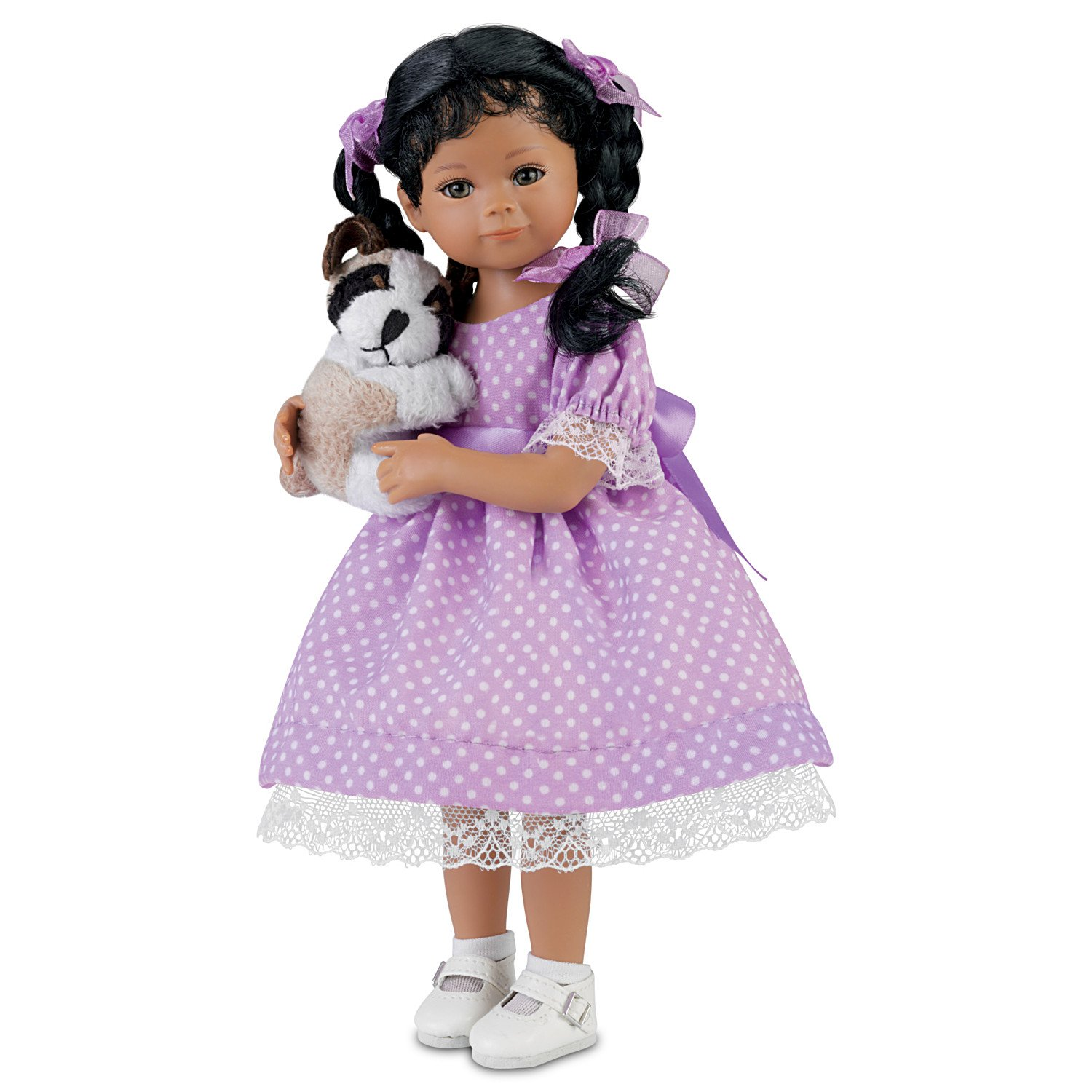 The Ashton-Drake Galleries Mayra Garza Poseable Child Doll with Plush Puppy: Kimani And Her Puppy