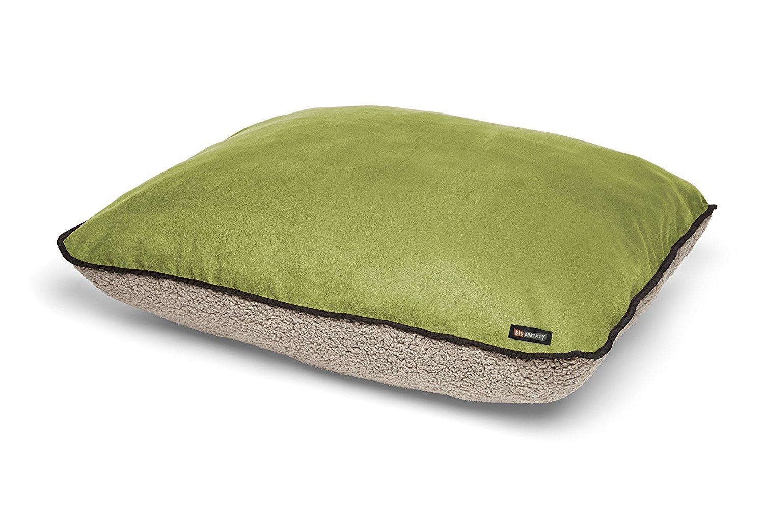 Big Shrimpy Bogo Dog Bed Replacement Cover, Faux Suede and Fleece, Large, Leaf