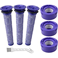 Auloo 6 Pack Vacuum Filter Replacement Kit for Dyson Dyson V8+, V8, V7 Absolute Animal Motorhead Vacuums, 3 HEPA Post…