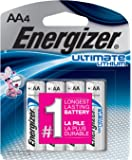 Energizer AA Lithium Batteries, Double A Battery Ultimate Lithium (4 Count)